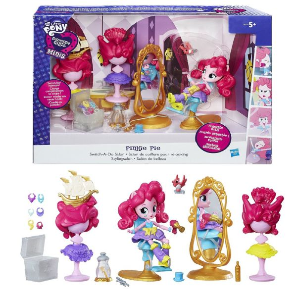MLP My Little Pony Equestria Girls Pinkie Pie Switch a Do Salon Toy Set B7735